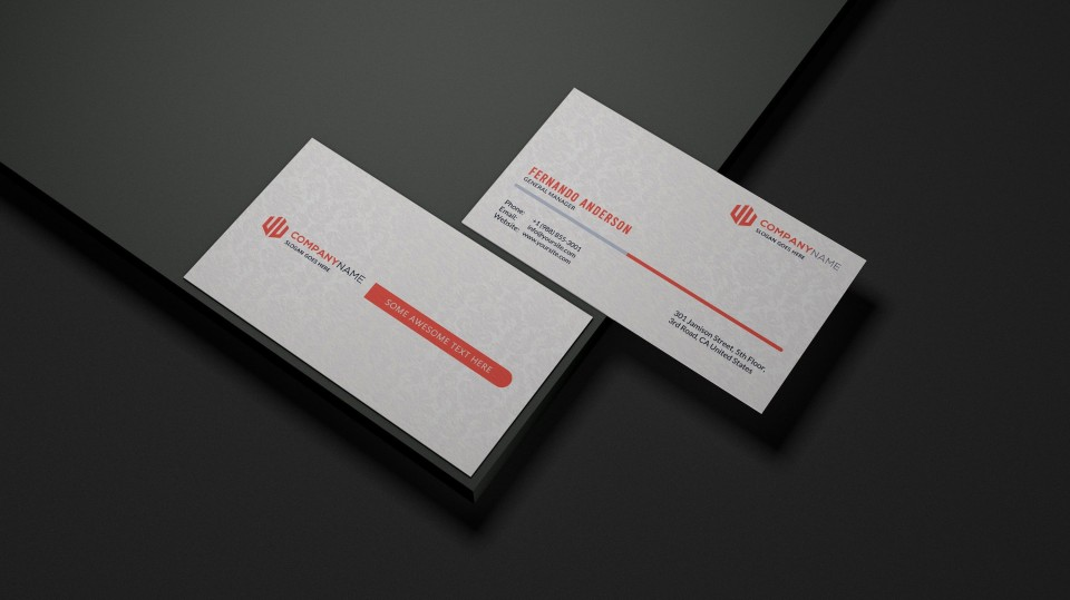 001 Formidable Staple Busines Card Template High Definition  Word Brand Heavyweight960