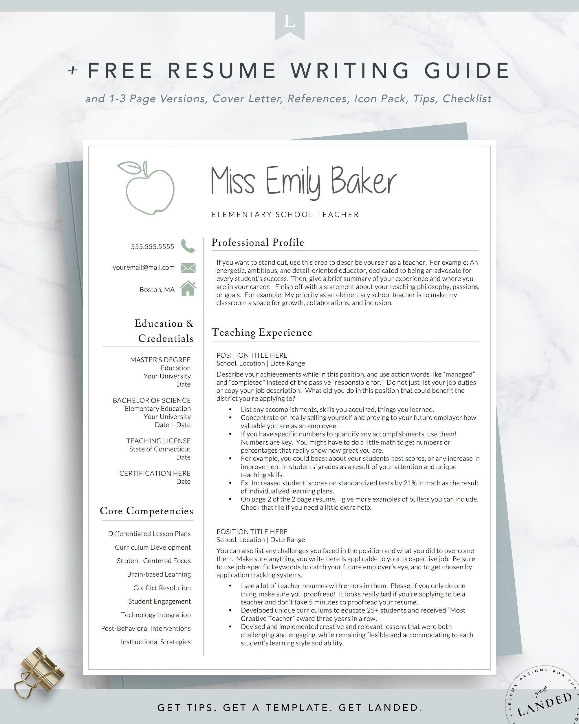 001 Formidable Teacher Resume Sample Free Download Example  CvFull