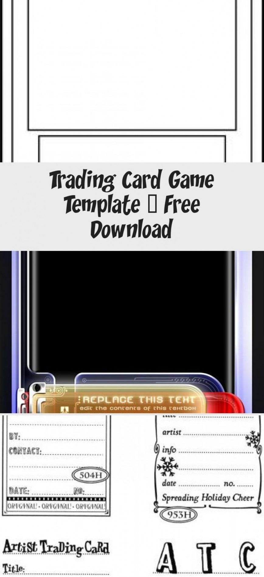 001 Formidable Trading Card Template Free Concept  Game Maker Download868