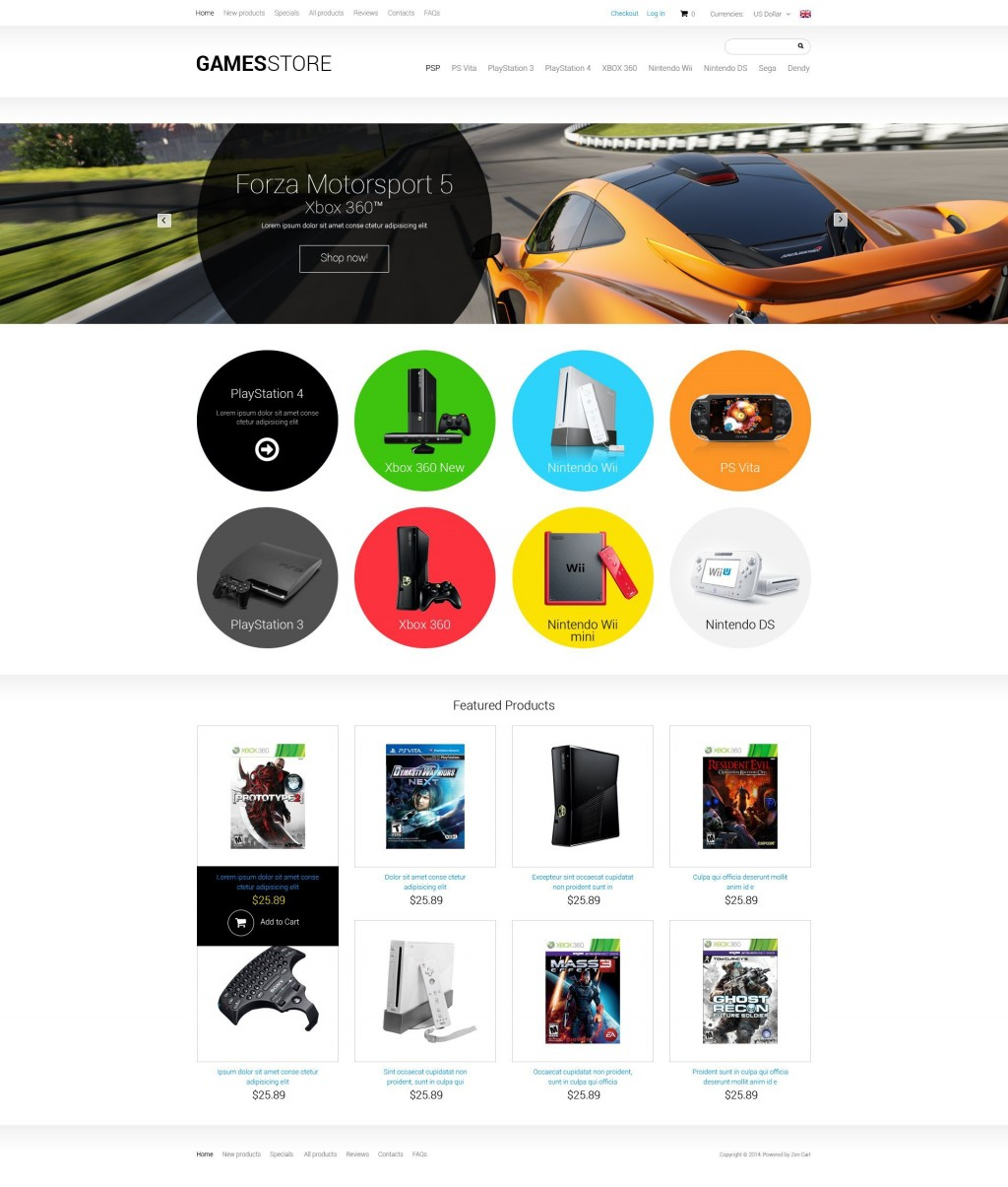 001 Formidable Zen Cart Template Free Concept  Download ResponsiveLarge