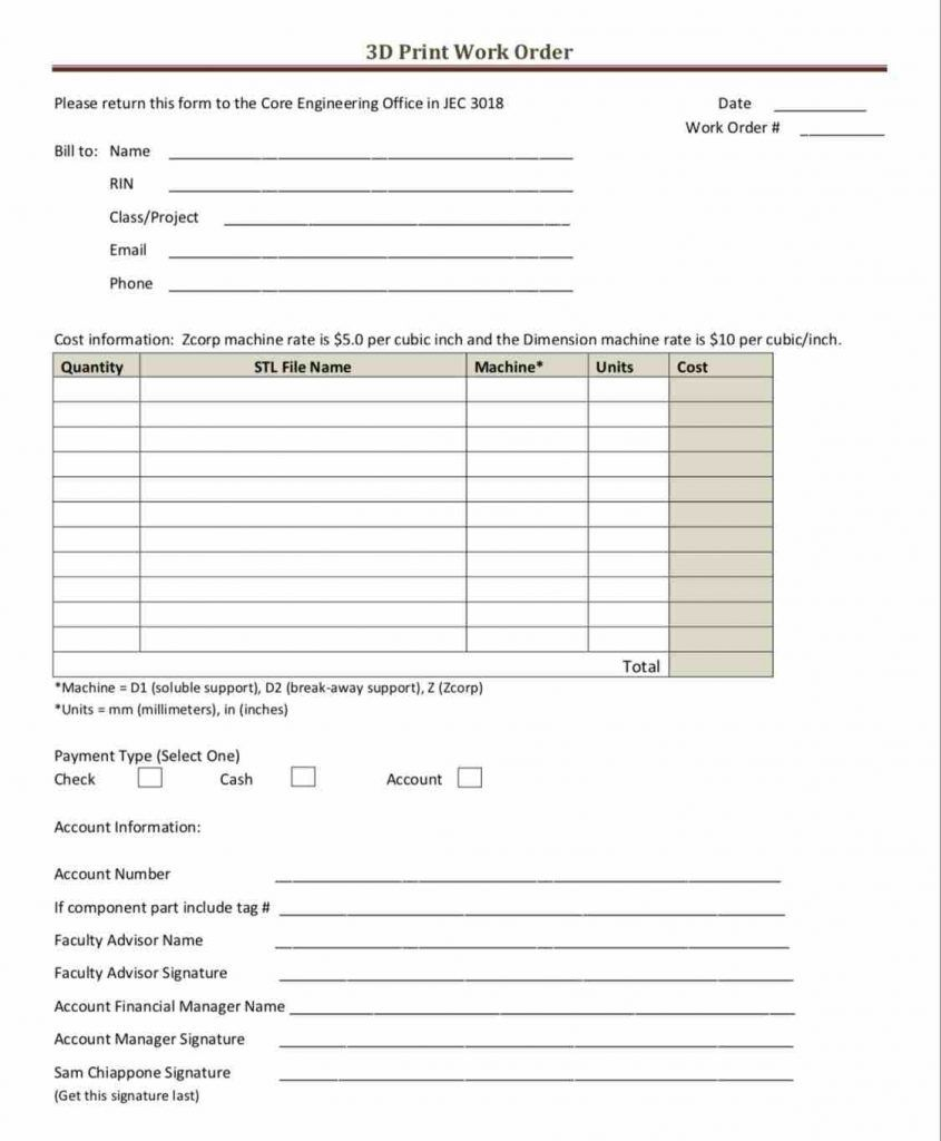 001 Frightening Auto Repair Work Order Template Excel Free Highest Clarity Full