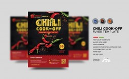 001 Frightening Chili Cook Off Flyer Template Design  Halloween Office Powerpoint