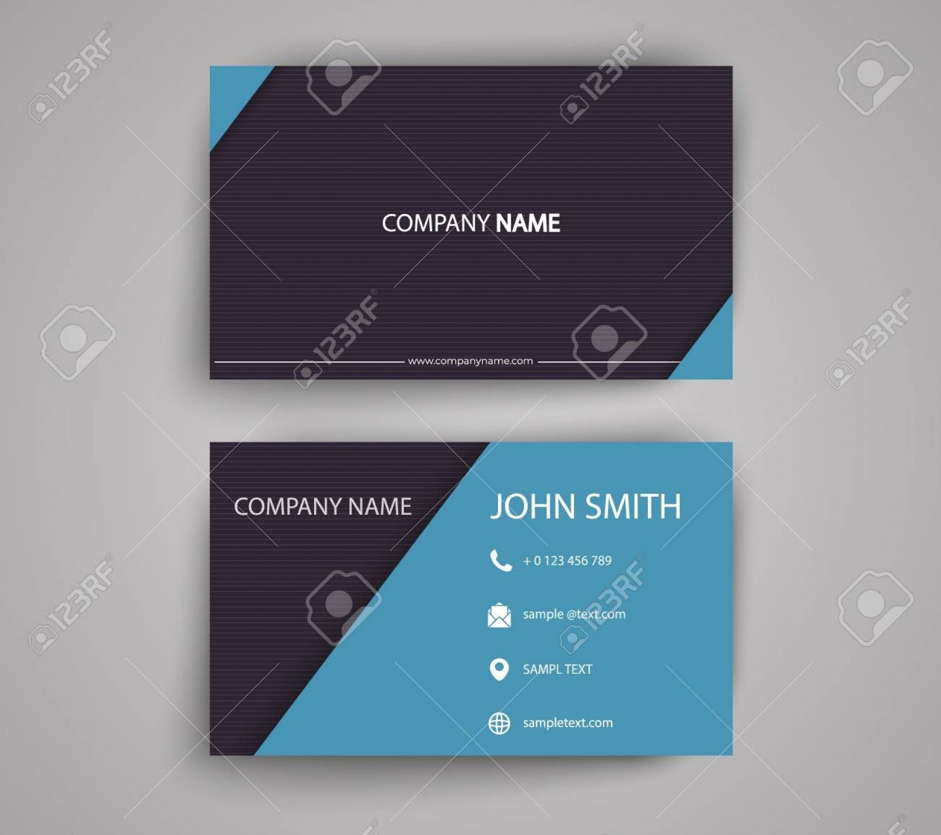 001 Frightening Double Sided Busines Card Template Design  Templates Word Free Two Microsoft1920