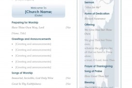 001 Frightening Free Church Program Template Word Idea  Bulletin For