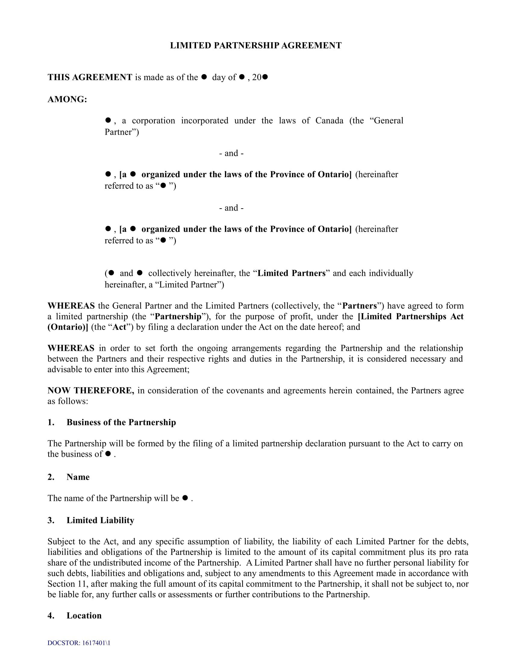 001 Frightening General Partnership Agreement Template Canada High Definition Full