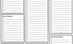 001 Frightening Grocery List Template Word Doc Photo  Shopping Document