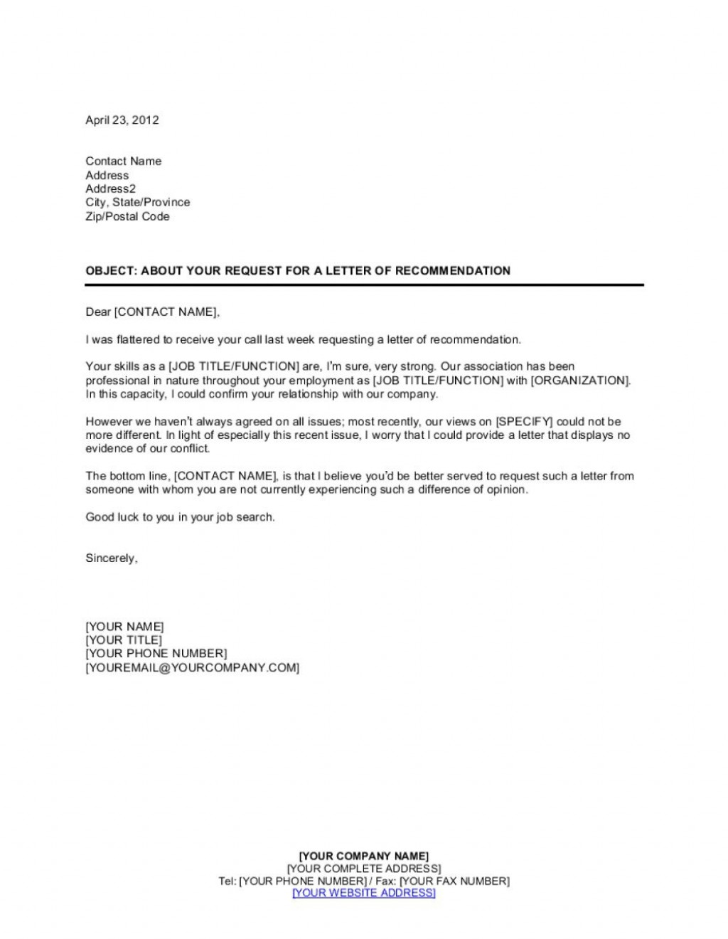 001 Frightening Letter Of Recomendation Template Highest Quality  Reference For Employment Sample Recommendation Teacher Student From EmployerLarge