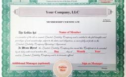 001 Frightening Llc Membership Certificate Template Example  Interest Free Member