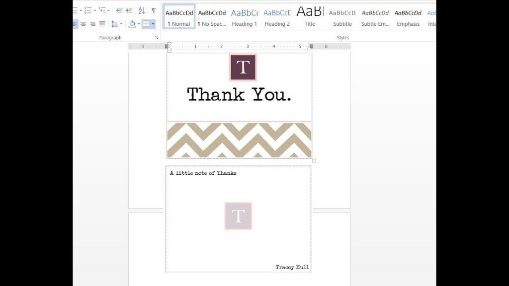001 Frightening M Word Thank You Note Template Photo  Microsoft Interview LetterLarge