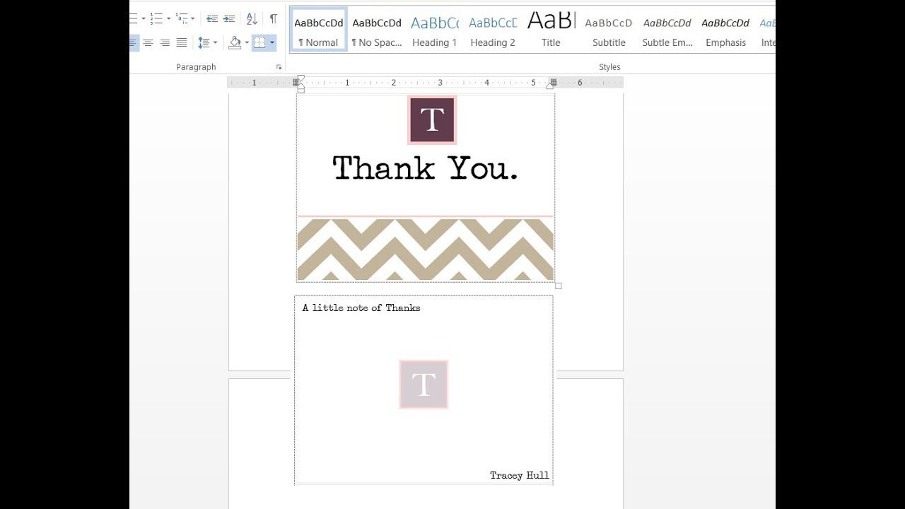 001 Frightening M Word Thank You Note Template Photo  Microsoft Interview LetterFull