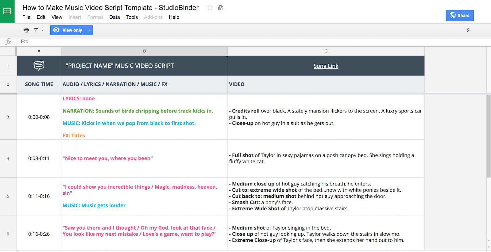 001 Frightening Music Video Script Template Design  Google Doc Example FreeFull