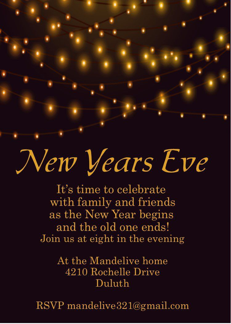 001 Frightening New Year Eve Invitation Template High Resolution  Party Free WordFull