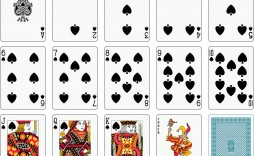 001 Frightening Playing Card Template Free Download Concept  Blank