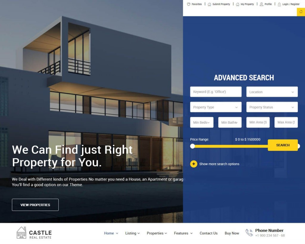 001 Frightening Real Estate Website Template Example  Templates Free Download Bootstrap 4 Listing WordpresLarge