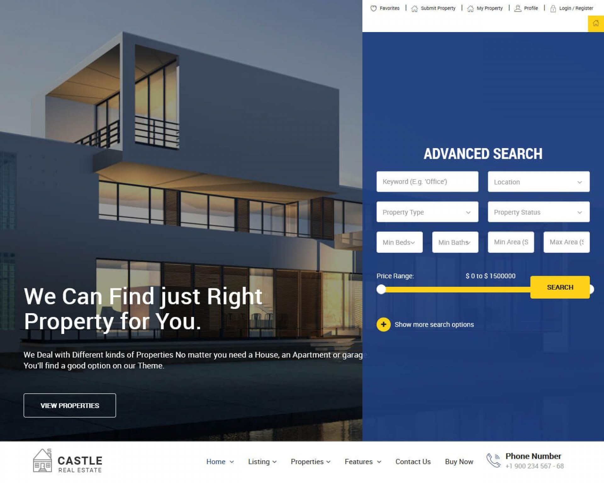 001 Frightening Real Estate Website Template Example  Templates Free Download Bootstrap 4 Listing Wordpres1920