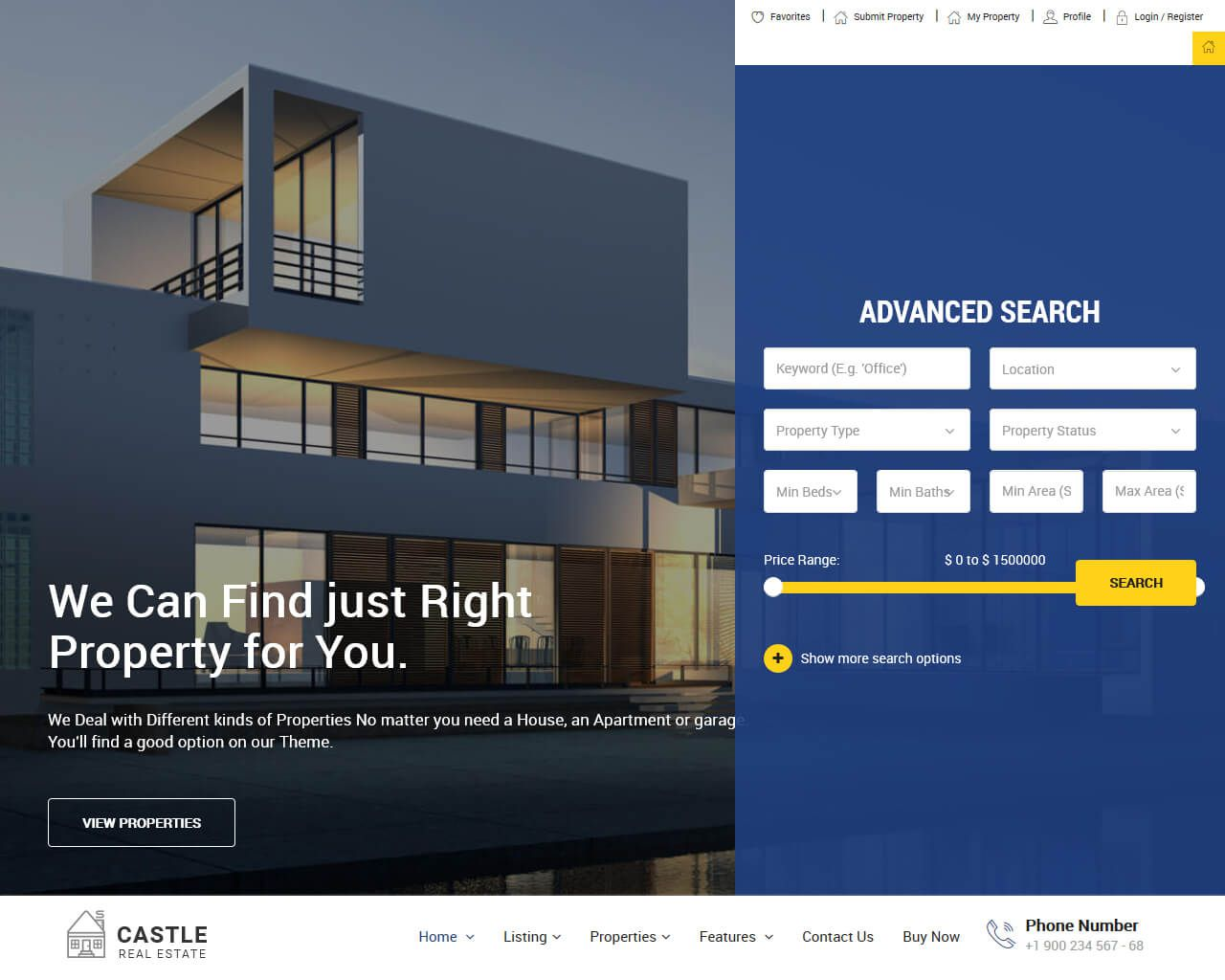 001 Frightening Real Estate Website Template Example  Templates Free Download Bootstrap 4 Listing WordpresFull