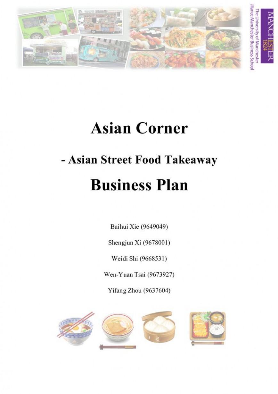 001 Frightening Restaurant Busines Plan Template Uk Inspiration  Sample Free