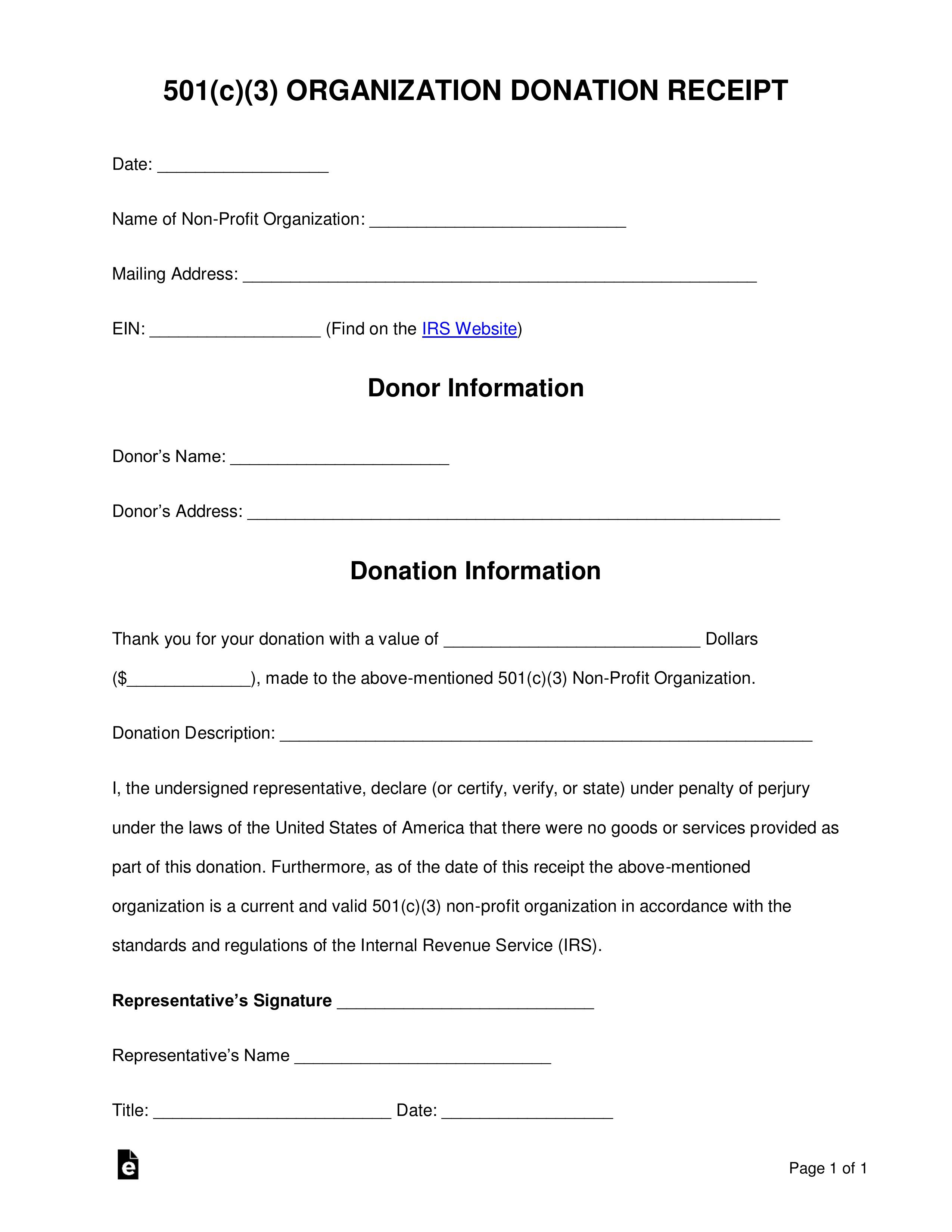 001 Frightening Tax Donation Form Template Highest Quality  Ir Charitable Receipt Deductible ExampleFull