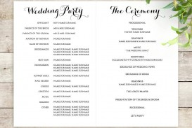 001 Frightening Wedding Order Of Service Template Free Photo  Front Cover Download Church