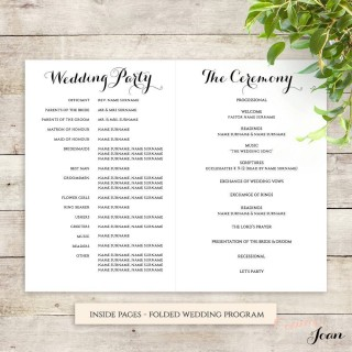 001 Frightening Wedding Order Of Service Template Free Photo  Front Cover Download Church320