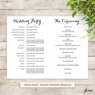 001 Frightening Wedding Order Of Service Template Free Photo  Front Cover Download Church360