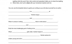 001 Imposing About The Author Template Example  Pdf All For Student