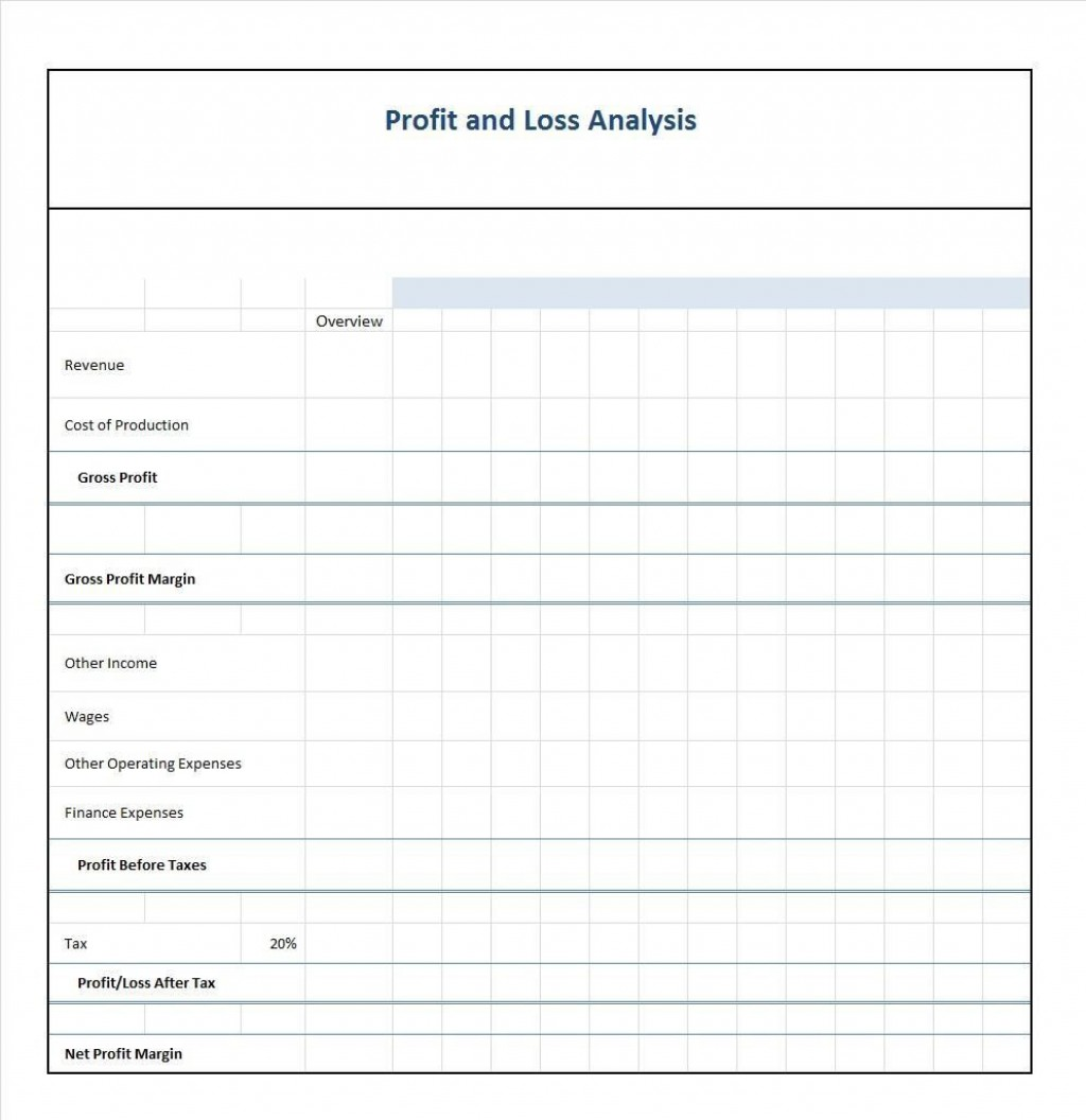 001 Imposing Blank Income Statement Template Image  FormLarge