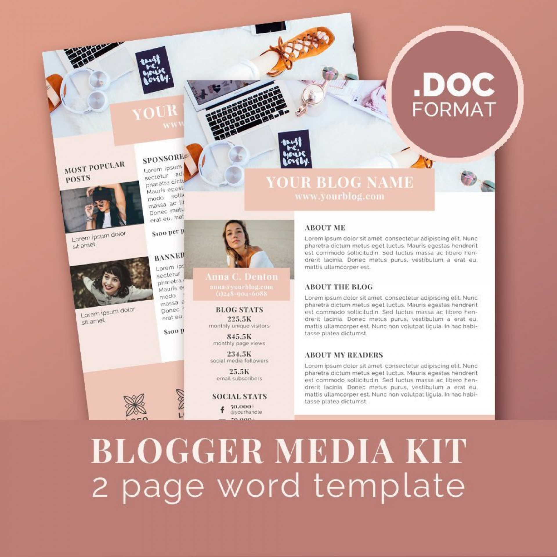 001 Imposing Blog Template For Word Photo  Best Wordpres Free Theme 20191920