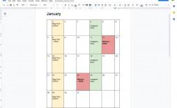 001 Imposing Calendar Template Google Doc High Definition  Docs Editable Two Week 2019-20