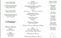 001 Imposing Catholic Wedding Program Template Picture  Roman Idea (with Readings)