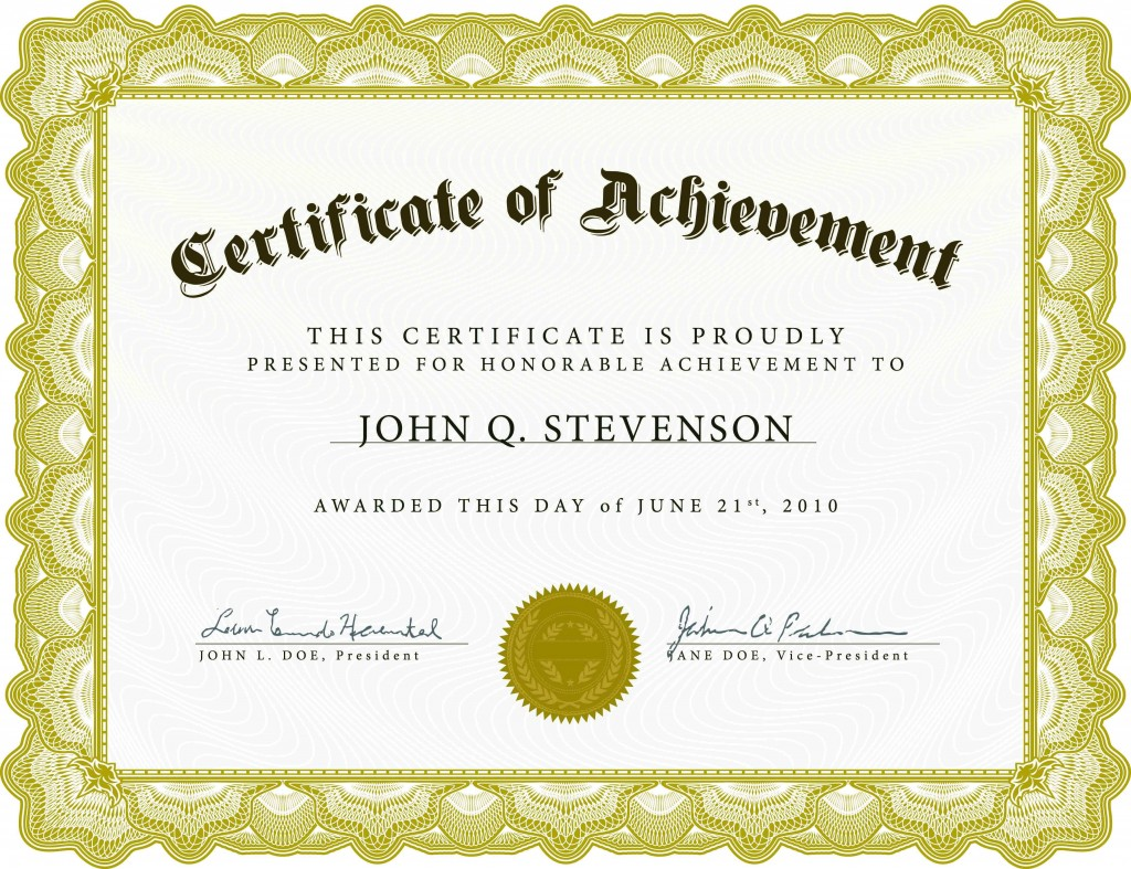 001 Imposing Certificate Of Achievement Template Free Idea  Award Download WordLarge