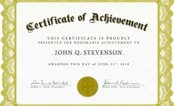 001 Imposing Certificate Of Achievement Template Free Idea  Award Download Word