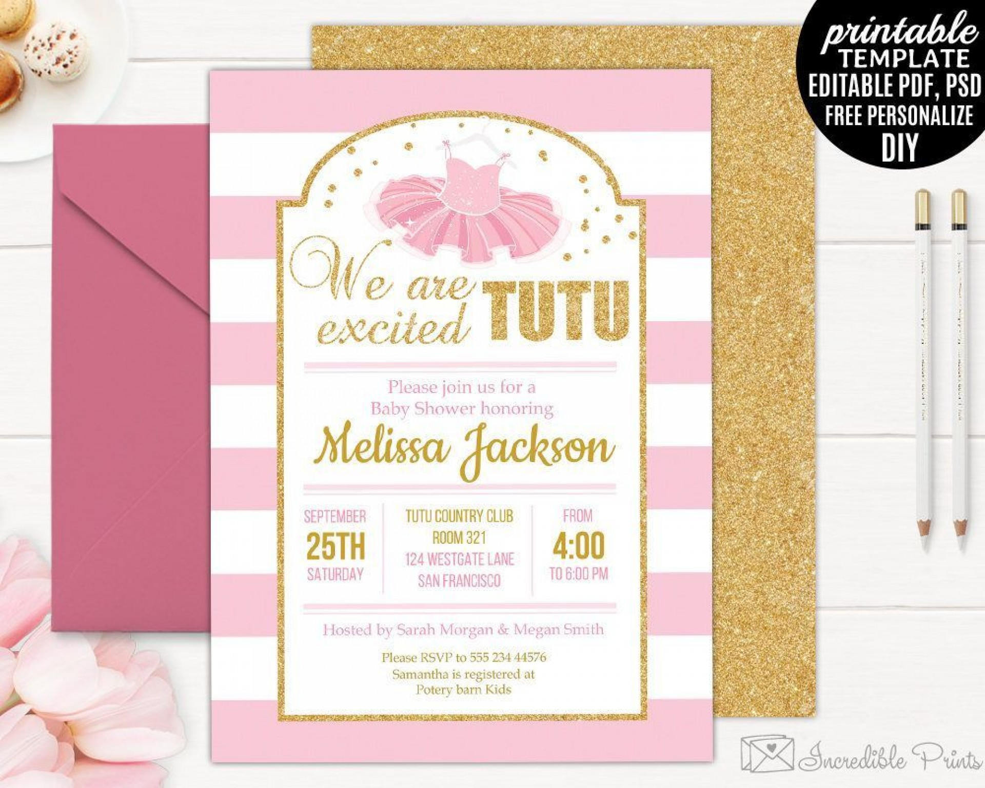 001 Imposing Diy Baby Shower Invitation Template Example  Templates Diaper Free1920