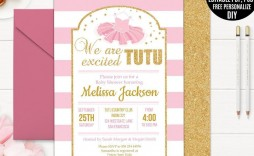 001 Imposing Diy Baby Shower Invitation Template Example  Templates Diaper Free