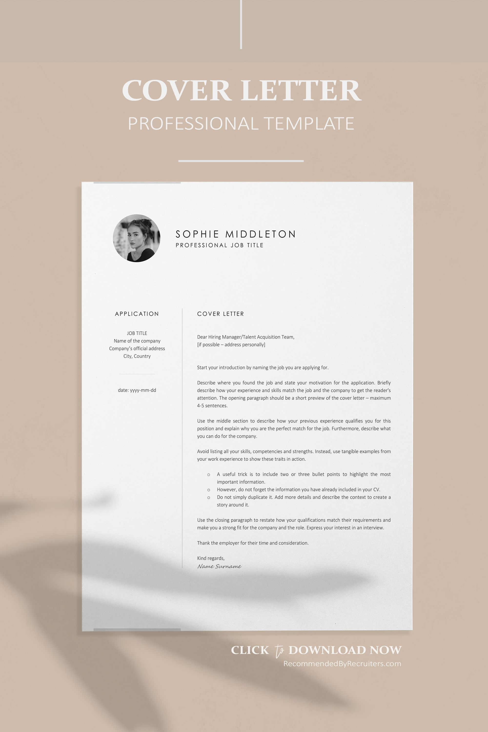 001 Imposing Download Cv And Cover Letter Template Sample  TemplatesFull