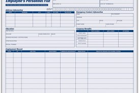 001 Imposing Employee Personnel File Template Sample  Uk Excel Form
