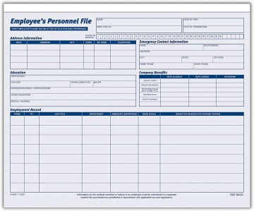 001 Imposing Employee Personnel File Template Sample  Uk Excel Form360