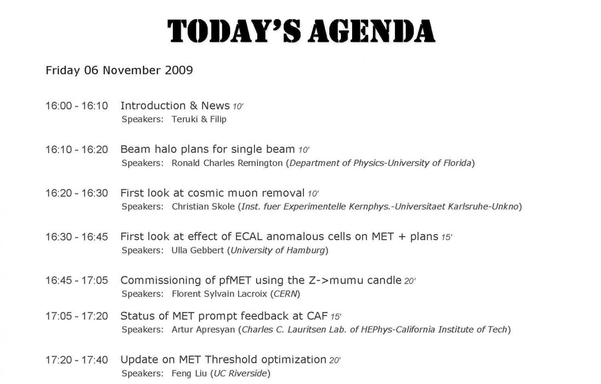 001 Imposing Formal Meeting Agenda Template Excel Highest Clarity 1920