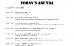 001 Imposing Formal Meeting Agenda Template Excel Highest Clarity