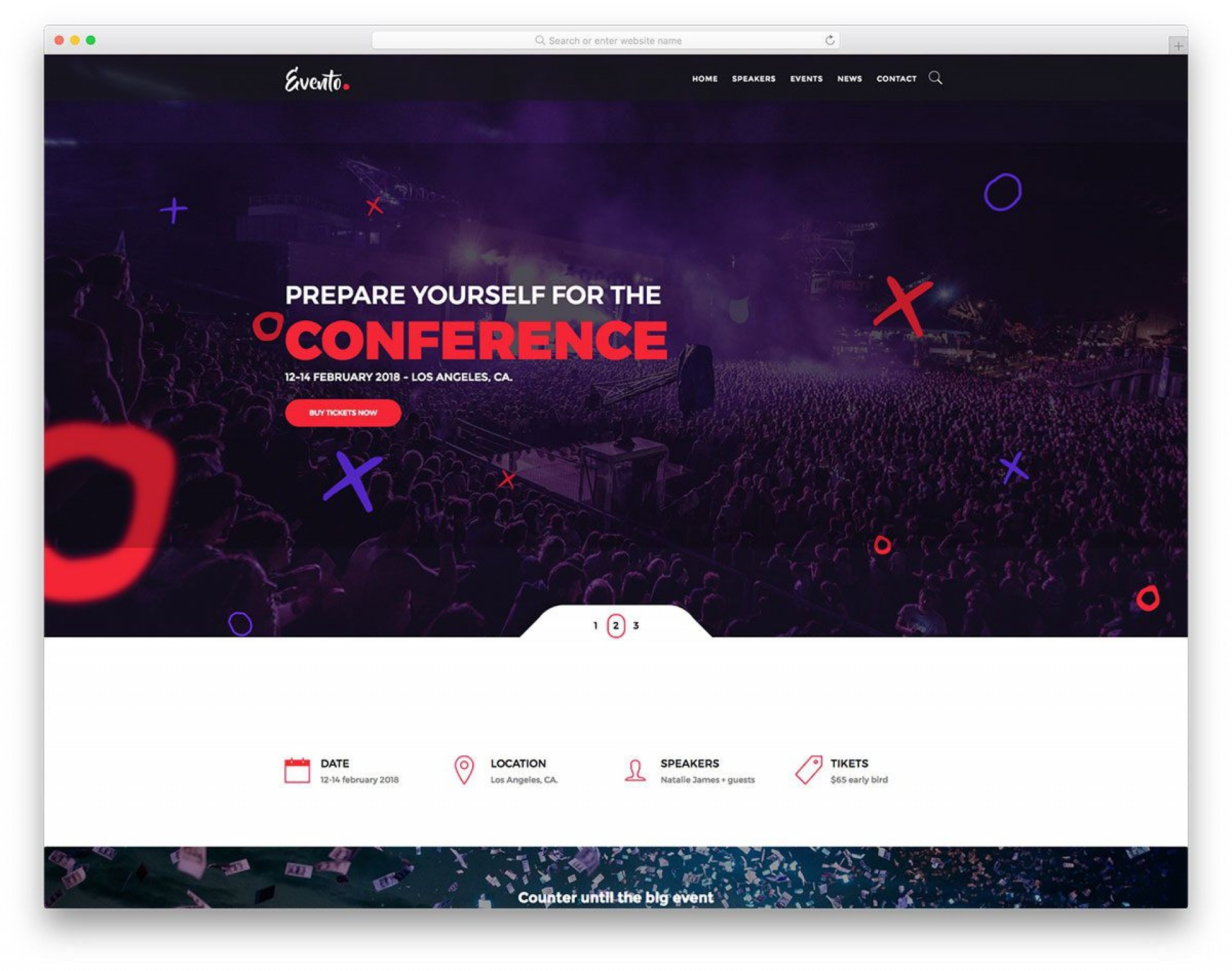 001 Imposing Free Event Planner Website Template Concept  Download Bootstrap1920