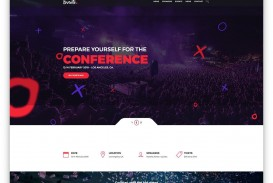 001 Imposing Free Event Planner Website Template Concept  Download Bootstrap