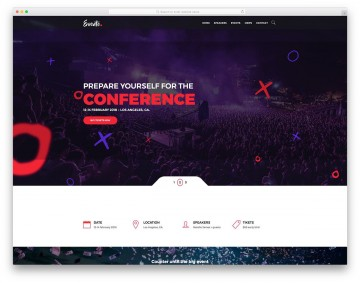 001 Imposing Free Event Planner Website Template Concept  Download Bootstrap360
