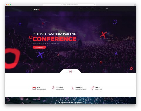 001 Imposing Free Event Planner Website Template Concept  Download Bootstrap480