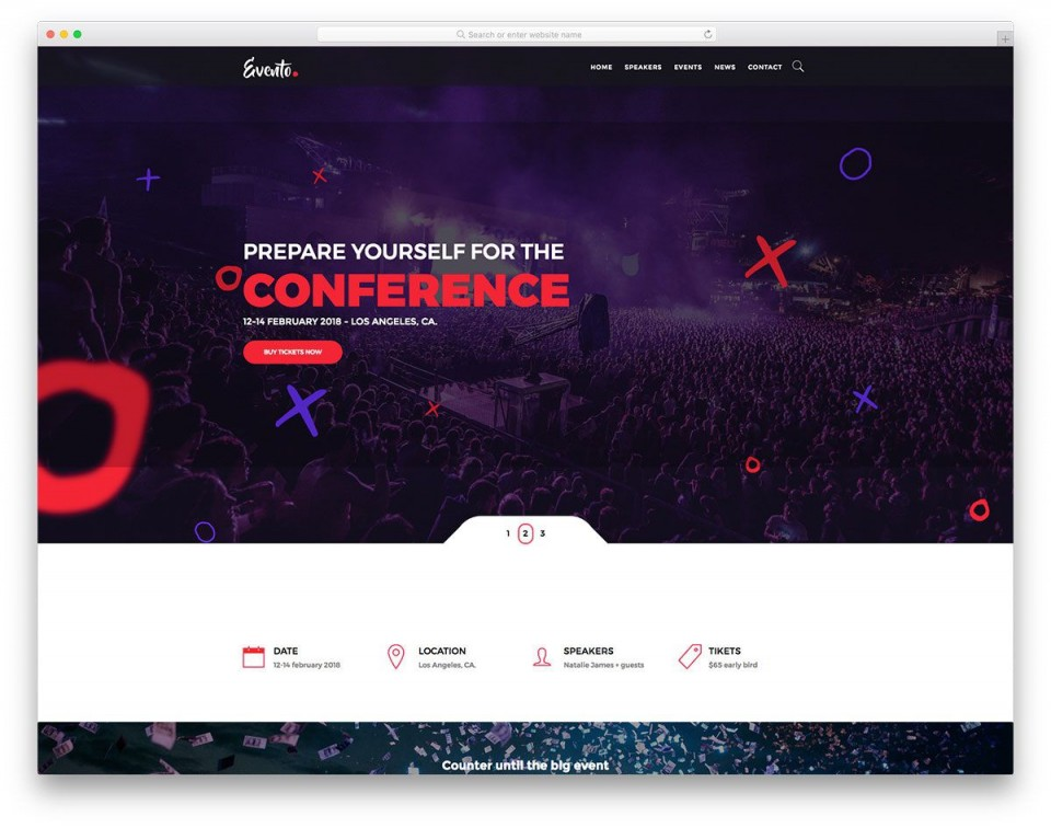 001 Imposing Free Event Planner Website Template Concept  Download Bootstrap960