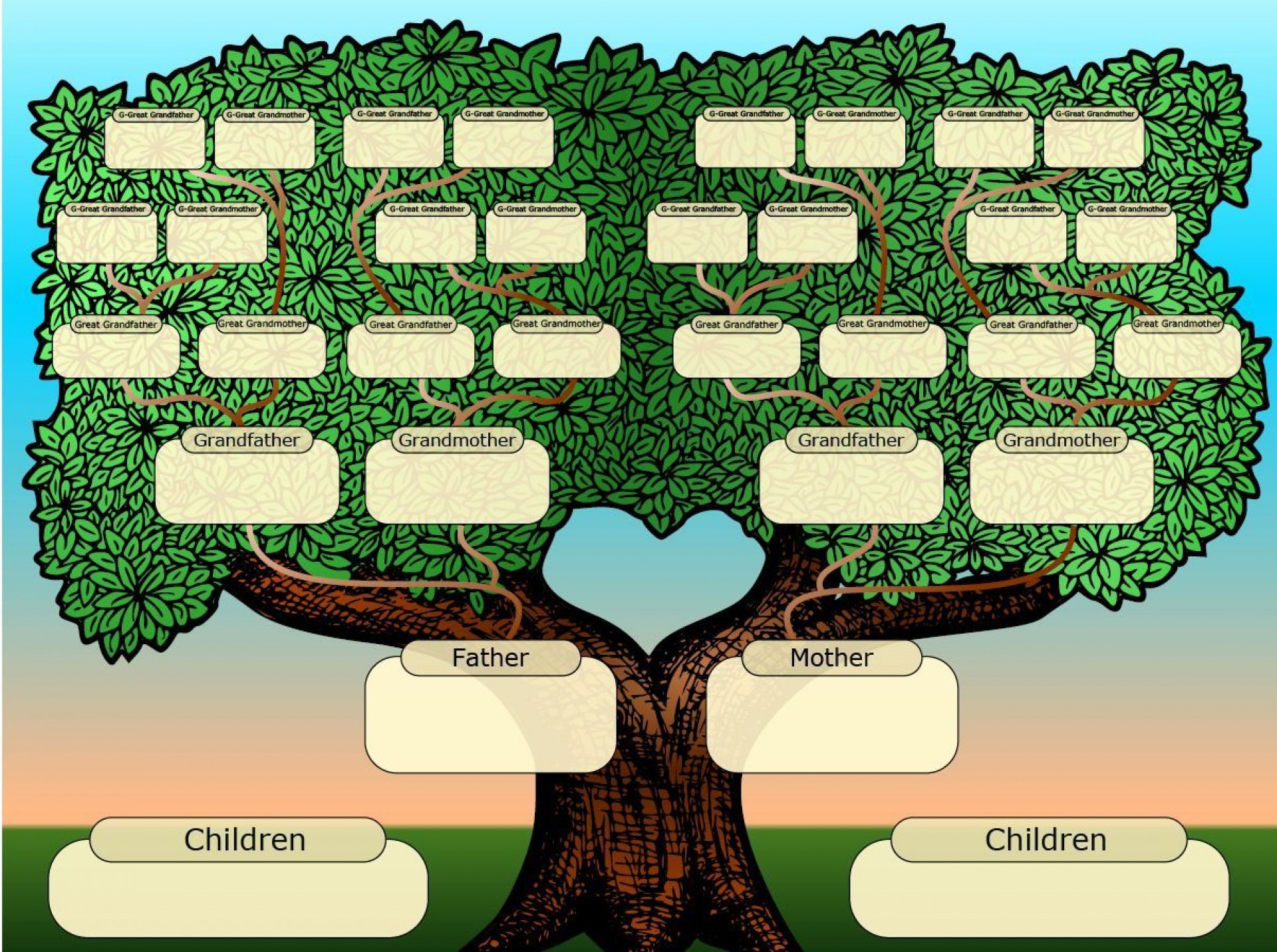 001 Imposing Free Online Family Tree Chart Template High Definition 1920