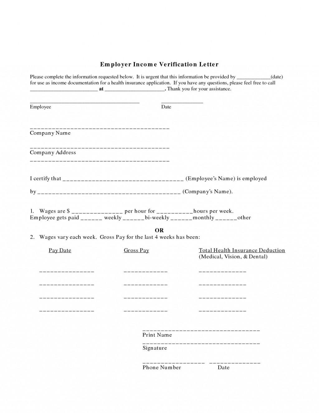 001 Imposing Income Verification Letter Template Example  Word From Employer Proof OfLarge
