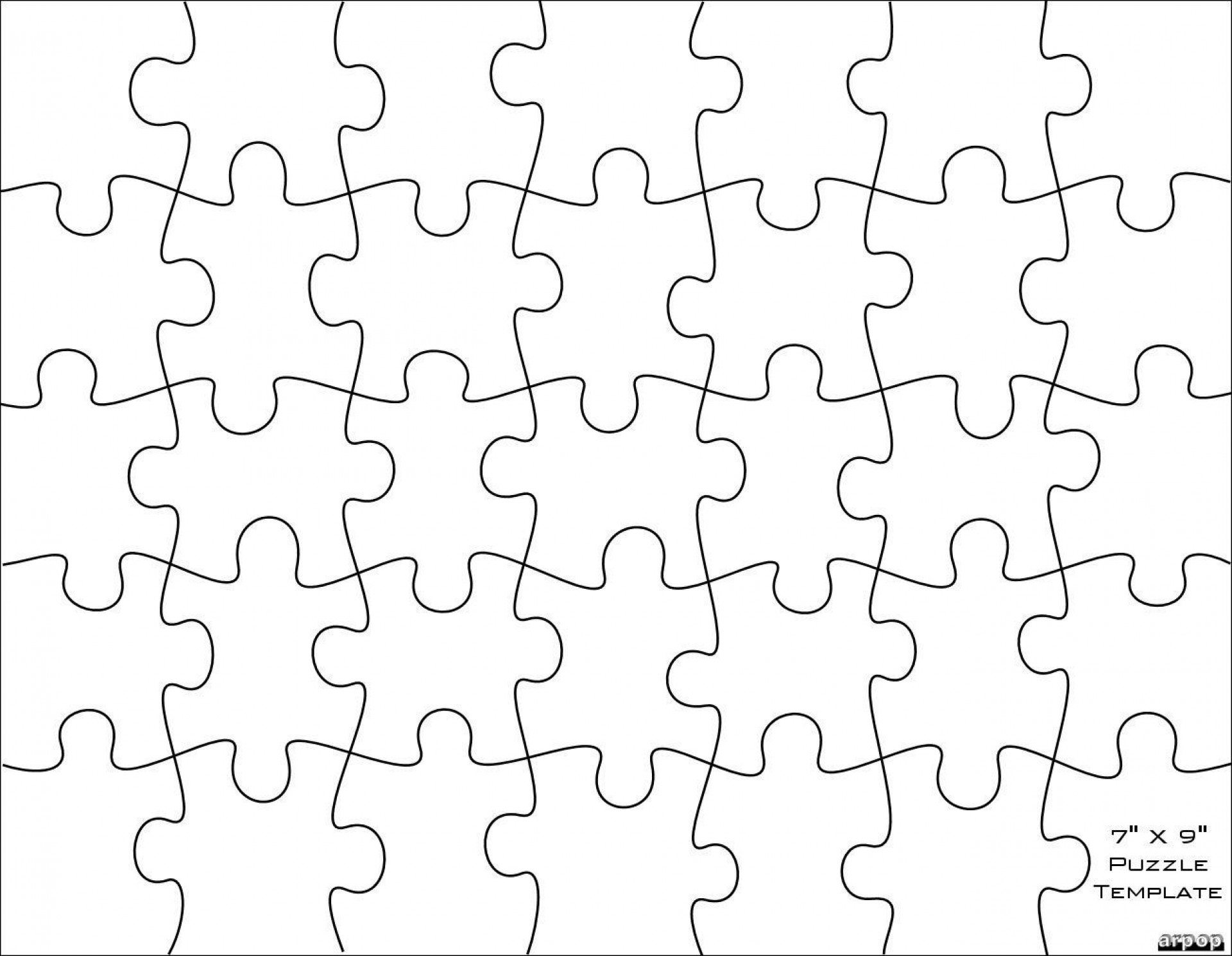 001 Imposing Jig Saw Puzzle Template High Definition  Printable Blank Jigsaw Vector Free Png1920