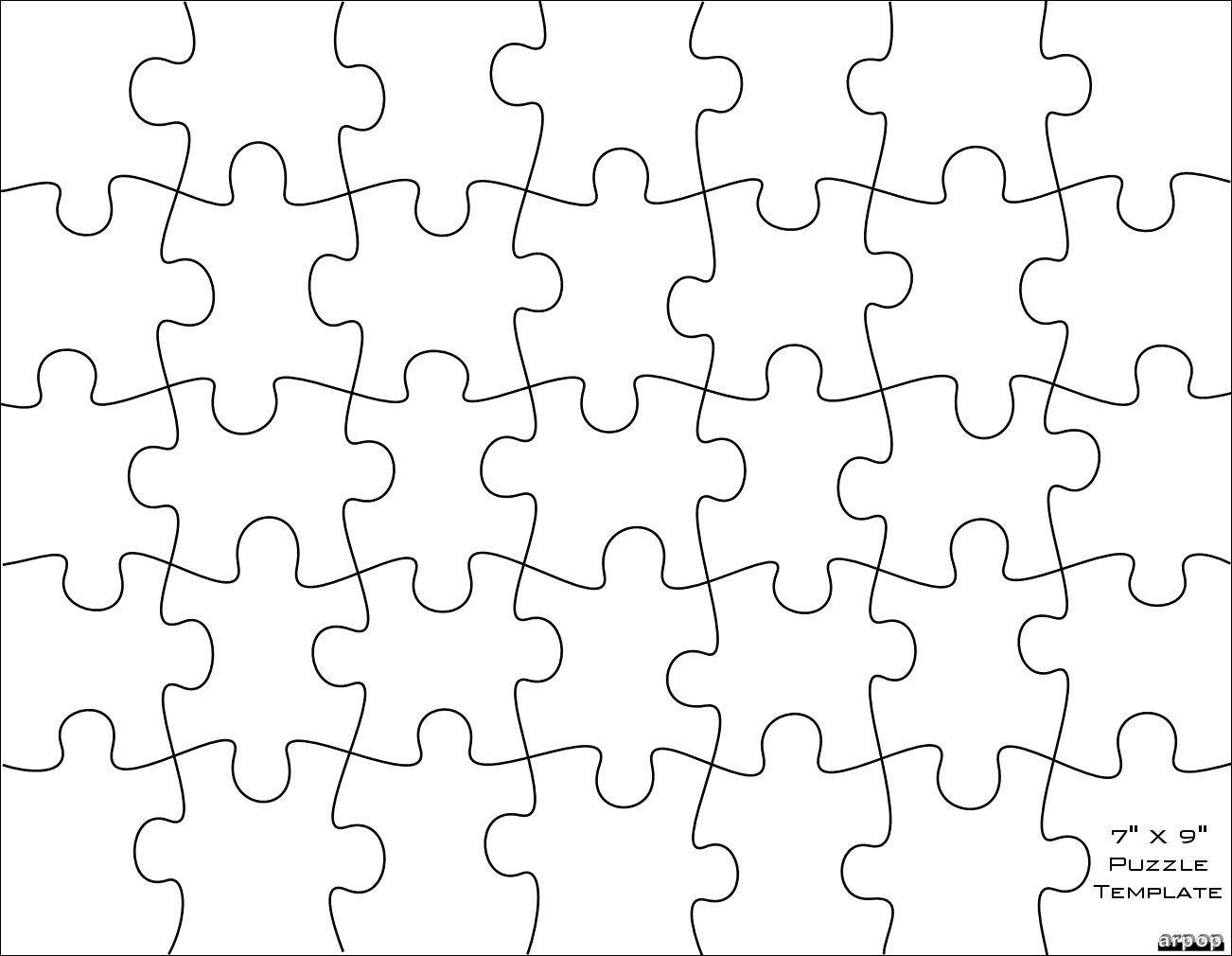 001 Imposing Jig Saw Puzzle Template High Definition  Printable Blank Jigsaw Vector Free PngFull