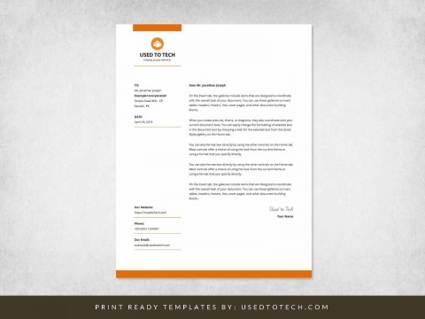001 Imposing Letterhead Template Free Download Word Image  Microsoft Format In Personal Red480