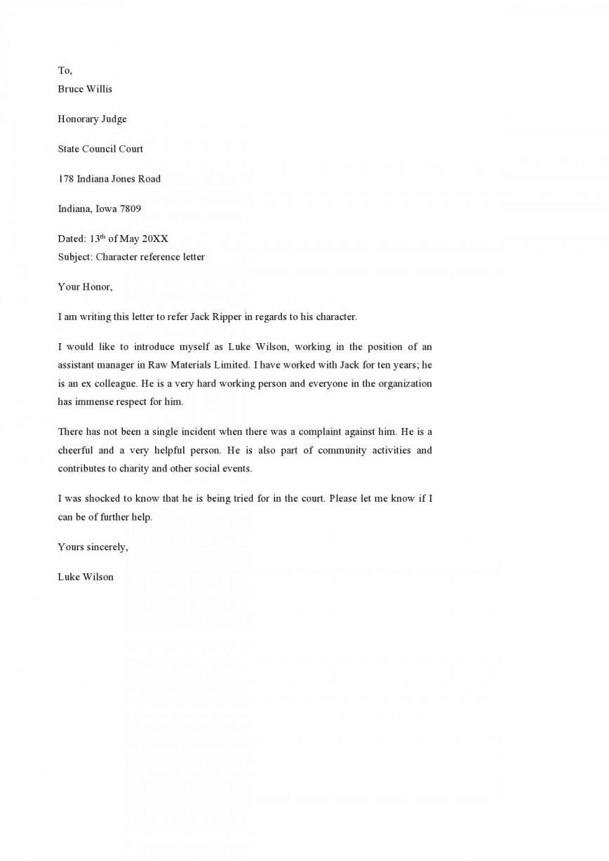 001 Imposing Letter Of Reference Template Design  Example For Teacher Student Employee